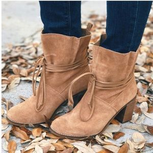 NEW TOMS Toffee Suede Leather Mila Boots NWT Sz 7